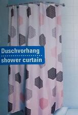 Textil Duschvorhang 180 x 200 cm Heptagonen Muster