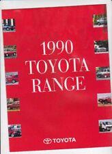 1990 TOYOTA Range New Zealand 12p Brochure COROLLA CORONA STARLET CELICA SUPRA