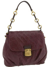MARC JACOBS DREAMY LOGO HANDBAG BUSY SHOULDER BAG HOBO FLAP CORDOVAN LEATHER