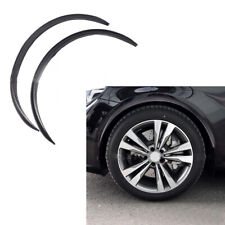 2Pcs Car Fender Flare Wheel Eyebrow Protector Sticker Carbon Fiber Rubber Strip