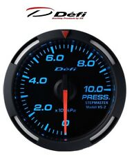 Defi Racer 52mm Car Oil Pressure Gauge - Blue - JDM Style Stepper Motor