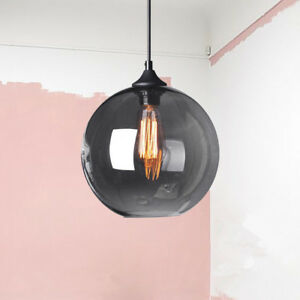Glass Pendant Light Grey Ceiling Lamp Bar Lights Home Lighting Modern Room Lamp