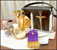 Travel Mass Kit, Includes Chalice, Paten, Pyx, Crucifix in a Zipped Case