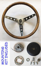 1967-1968 Chevelle El Camino Camaro SS Grant Steering Wheel Wood Walnut 13 1/2""