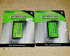 2 New Packs Enercell 9V Rechargable Batteries 170mAh