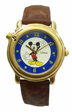 Lorus Melody Disney Mickey Mouse Watch With Two-tone Color Case & Leather Band