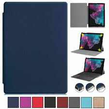 Folio Ultra Slim Leather Stand Case Cover For Microsoft Surface Pro X 4 5th 6 7