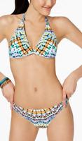 Bar III Size L Tulum Tie Dyed Reversible Tri Bra & Bikini Brief Set Swimsuit NWT
