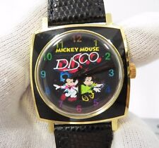 "MICKEY & MINNIE MOUSE DISCO,""TV Dial Case,"",Manual Wind,RARE CHARACTER WATCH,300"