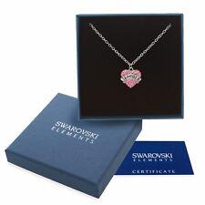 Collana argento Swarovski Elem. originale G4L cristalli cuore maestra insegnante