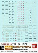 GD34 Gundam Decal GUNPLA MG Master Grade GAT-X105E Strike Noir 1/100 BANDAI