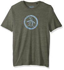 Original Penguin Men's Short Sleeve Tri-blend Circle Logo Tee Forest Green XL