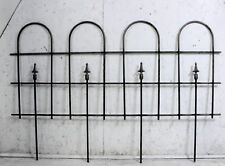 Wrought Iron Large Hoop And Spear Fencing - Garden Border Edging Fence