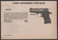 1980 IVER JOHNSON X300 Pony Pistol Half-page AD CLIPPING