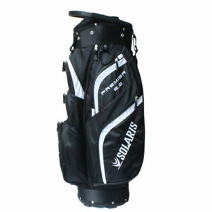 New Solaris Premier 2.0 Golf Cart Bag - 14 WAY TOP & FRONT COOLER POUCH