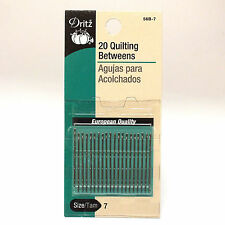 Dritz 20 Quilting Betweens, Size/Tam 7, Fast Shipping from Us