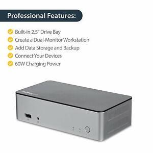StarTech.com Station d'accueil USB-C double affichage - Baie de lecteur de disqu