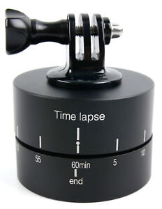 Rotating Time Lapse Tripod Adapter - Compatible with Ricoh WG-M2 Action Camera