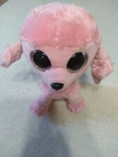 "Ty Beanie Boos Princess The Poodle 6"" Plush Pink Glitter Eyes"