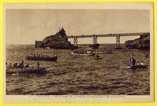 cpa 64 - BIARRITZ (Pyrénées Atlantiques) COURSE de Barques TRAÎNIÈRES Rameurs