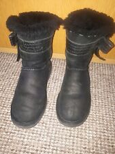 UGG Boots ladies Mid Calf Black Size 6.5 ,In Excelle Conditions