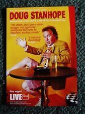 DOUG STANHOPE -  A5 FLYER - 2012 UK TOUR. (''A VISIONARY DOUCHEBAG'' The Times)