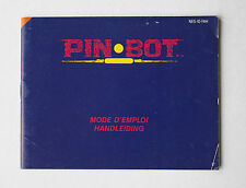 Pinbot -- Nintendo NES -- Manual (NES-IO-FAH)