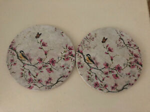 Decoupage  Floral Placemats Set Of 2