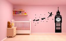 "Peter Pan Tinkerbell Neverland, Wall Decal, wide 22 x 23"" Height."