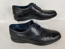 Ecco Men's Oxford Black Leather Shoes Size EU 44 US 10-10.5