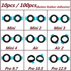 Lot Home Button Rubber Seal Bracket Adhesive For iPad Mini Air 1 2 3 4 Pro 10.5