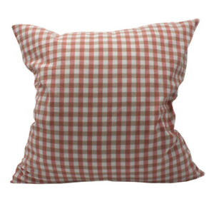 CURCYA Washed Cotton Cushion Cover Plaid Throw Pillow Covers Bedding Pillowcases