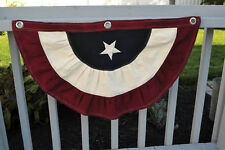"""37"""" PATRIOTIC FLAG BUNTING RED WHITE AND BLUE by Pine Creek MB40"""