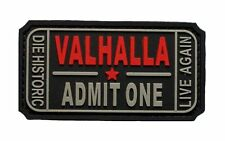 Ticket to Valhalla Admit One Vikings Mad Max PVC Rubber Morale Hook Patch