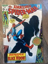 Amazing Spider-Man #86 Key Black Widow Origin Water Stain See Fotos