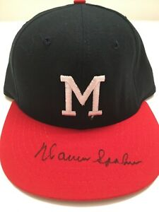 Warren Spahn Autographed Signed Milwaukee Braves Hat ( Fitted)