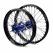 "Yamaha YZ250F 2008 2009 2010 2011 2012 Wheels Set Blue Black 19"" 21"" Wheel Rims"