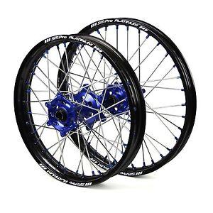 "Husqvarna FE350 2014 2015 2016 2017 Wheels Set Blue Black 18"" 21"" Wheel Rims"