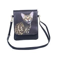Cat Slim Cross body Flap Bag - Bengal