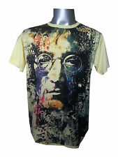 Men T Shirt John Lennon Beatles Rock love HIPPIE Peace cotton new m tee MIRROR