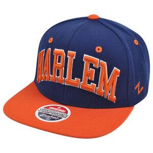 Zephyr Harlem City Super Star Adjustable Snap Back Two Tone Blue Orange Hat Cap