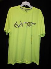 REALTREE XTRA HUNTING Safety Green Wicking T shirt Men's Size 2XL