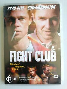 Fight Club DVD Brad Pitt and Edward Norton VGC Classic American Film R18+