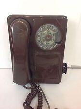 VINTAGE Dark Brown NORTHERN TELECOM DOODLE ROTARY PHONE NICE, MUST SEE!
