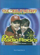 Le NOSTRE ROCCE Radio-PJ & Duncan - 1994 SPARTITI MUSICALI