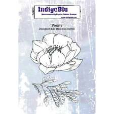 PEONY - A6 Mounted & Machine Trimmed Rubber Stamps  - INDIGOBLU