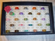 COOL CHIC WHOLESALE VINTAGE COLLECTION 25 LUCITE RINGS FUNKY GROUP C MIXED SIZE