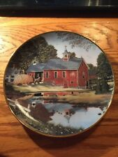 """Franklin Mint Heirloom Recommendation """"Bringing in the Hay"""" Plate !"""