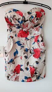 NEW Floral Print Dress VANGELICA Size S Retro Rockabilly *E