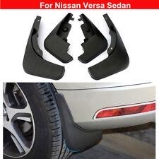 New 4pcs Plastic Tire Splash Guards Mud Flaps For Nissan Versa Sedan 2011-2020